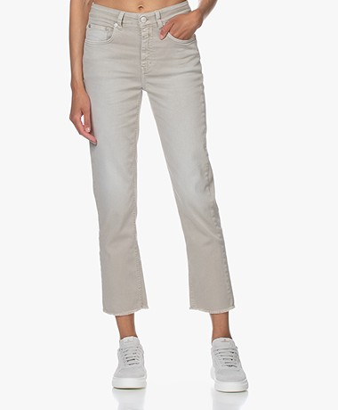 Closed Gloria Cropped Raw Hem Jeans - Lama