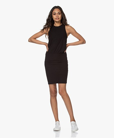 James Perse Blouson Tank Dress - Zwart