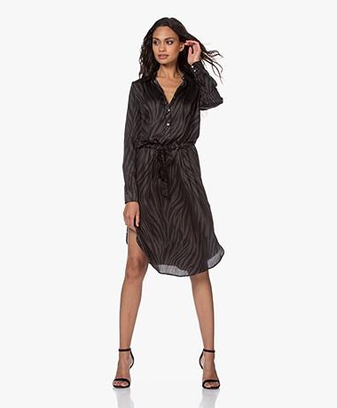 Plein Publique La Française Printed Shirt Dress - Zebra