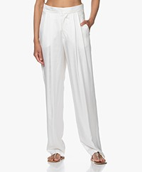 Resort Finest Fico Loose-fit Satijnen Pantalon - Ecru