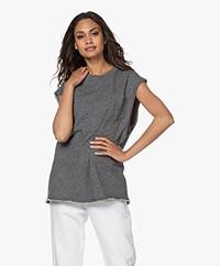 American Vintage Pomitree Mouwloos Sweatshirt - Charcoal Mélange