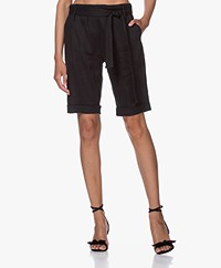 Woman by Earn Mabel Linen Bermuda Shorts - Black