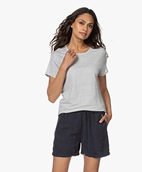Filippa K Hazel Linnen T-shirt - Sterling Grey