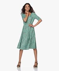 Kyra & Ko Jip Printed Jersey Dress - Army/Poolblue