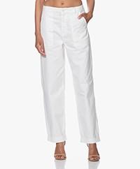 Denham Hawthorn Cargo Twill Pants - White