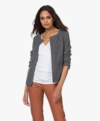 Sibin/Linnebjerg Lulu Kort Vest - Dark Sweat Grey