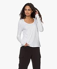 American Vintage Jacksonville Slub Long Sleeve - White