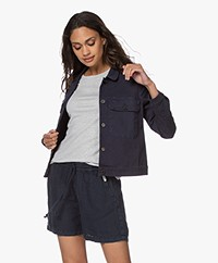 indi & cold Cavalry Twill Jack - Donkerblauw