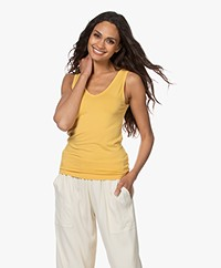 Majestic Filatures Soft Touch V-neck Tanktop - Yellow