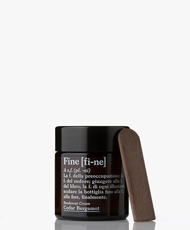 fine Deodorant Cream Jar - Cedar Bergamot 30g