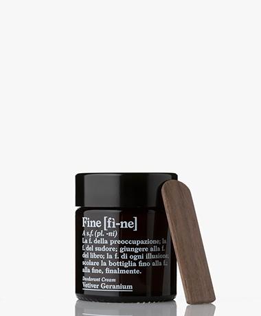 fine Deodorant Cream Jar - Vetiver Geranium 30g