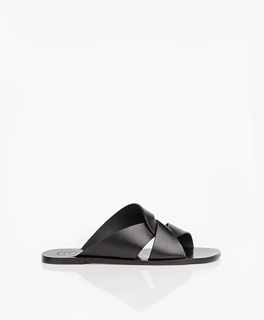 ATP Atelier Allai Leather Sandals - Black