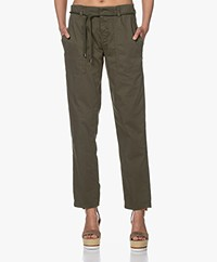 Drykorn Bad Loose-fit Cotton Blend Pants - Army