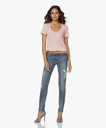 Zadig & Voltaire Eva Love-worn Slim-fit Jeans - Blue
