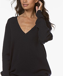 extreme cashmere N°89 Be Nice V-neck Sweater - Navy