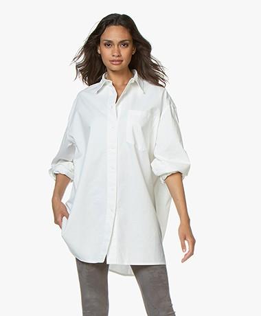 American Vintage Yta Oversized Katoenen Blouse - Off-white