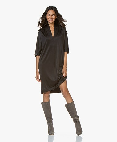 By Malene Birger Bijou Viscose Jersey Dress - Black