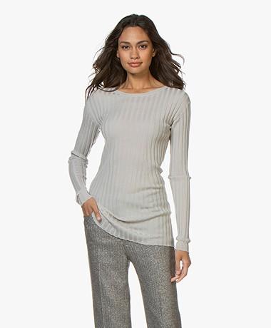 Filippa K Daria Ribbed Merino Wool Sweater - Light Beige