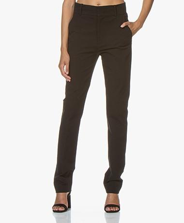 Joseph Yuli Cotton Bi-stretch Pants - Black