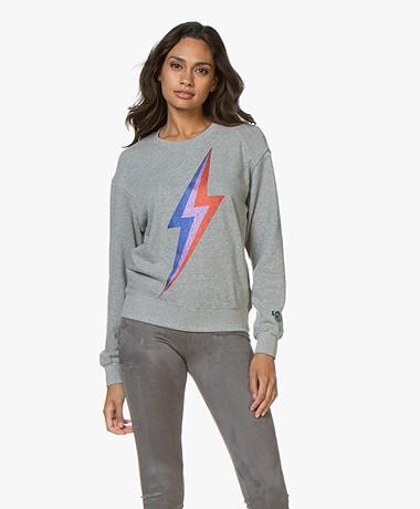 MKT Studio Sorock Print Sweater - Grey Melange