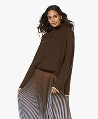 By Malene Birger Ellison Alpaca Blend Turtleneck Sweater - Warm Brown