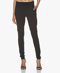 Woman By Earn Amber Tech Jersey Pants - Navy