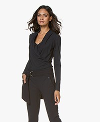 Woman by Earn Mo Belt with Flap Pockets - Navy