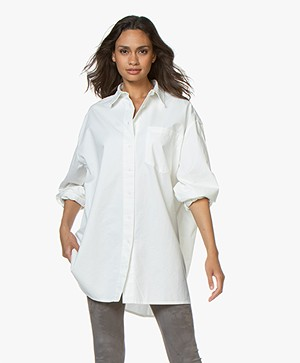 American Vintage Yta Oversized Cotton Blouse - White