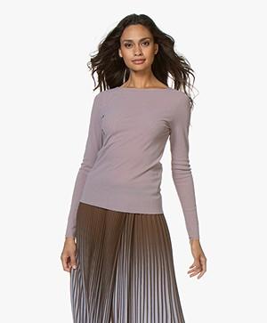 LaSalle Mesh Long Sleeve T-shirt - Rose