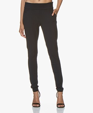 Woman By Earn Amber Travel Jersey Pants - Navy