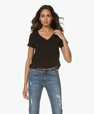 American Vintage Sonoma Slub Jersey T-shirt - Zwart