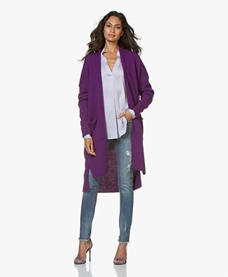 Sibin/Linnebjerg Maine Long Open Cardigan - Clear Purple