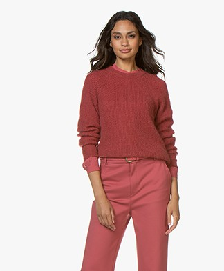 Filippa K Mohair R-neck Sweater - Raspberry