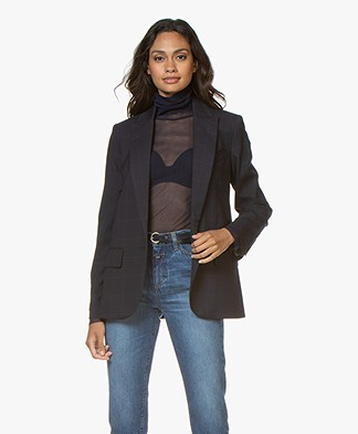 Zadig & Voltaire Viking Carreaux Blazer - Navy