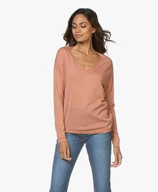 Marie Sixtine Ines V-neck Sweater - Rotin