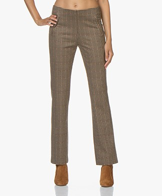 no man's land Geruite Jersey Pantalon - Soft Sandelwood