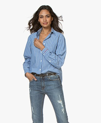 Zadig & Voltaire Tais Rayee Striped Blouse - Ciel
