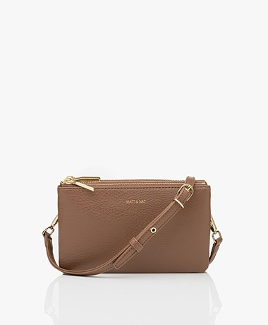 Matt & Nat Triplet Dwell Cross-Body Tas - Brick