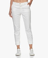Closed Stewart Cotton and Modal Blend Pants - Ivory