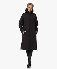 Maium Rainwear Mac Kuitlange Regenjas  - Zwart