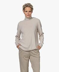 no man's land Cashmere Mix Turtleneck Sweater - Soft Biscuit