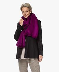 Alpaca Loca Handgemaakte Uni Sjaal in Alpaca - Violet
