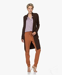 KYRA Resi Wolmix Knielang Vest - Coffee Bean