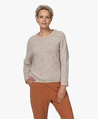 by-bar Milou Susi Fisherman's Rib Sweater - Stone Sand