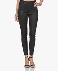 Drykorn Winch Skinny Pantalon met Coating - Zwart