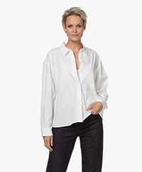 Denham Jill Katoenen Overhemdblouse - Wit