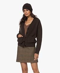 extreme cashmere N°34 Bon Cashmere Beanie - Dark Brown