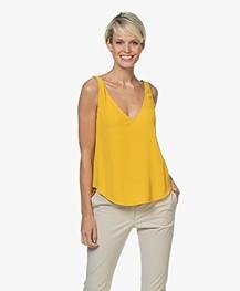 ba&sh Figue Reversible Crêpe Top - Yellow Amber