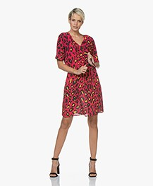 Josephine & Co Ciel Leopard Print Tunic Dress - Magenta