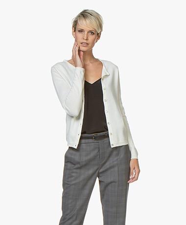 Resort Finest Lucca Cashmere Basic Vest - Off-white